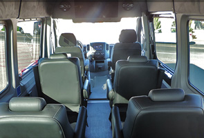 business van rental seats