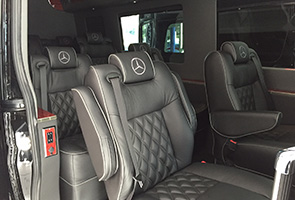 executive luxury sprinter van rentals seats