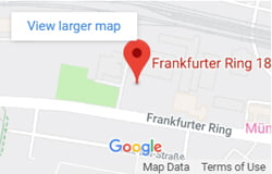 Munich Sprinter Van Rentals Map