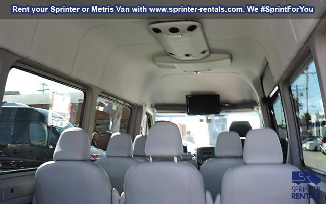 comfort sprinter van inside seats with head rests