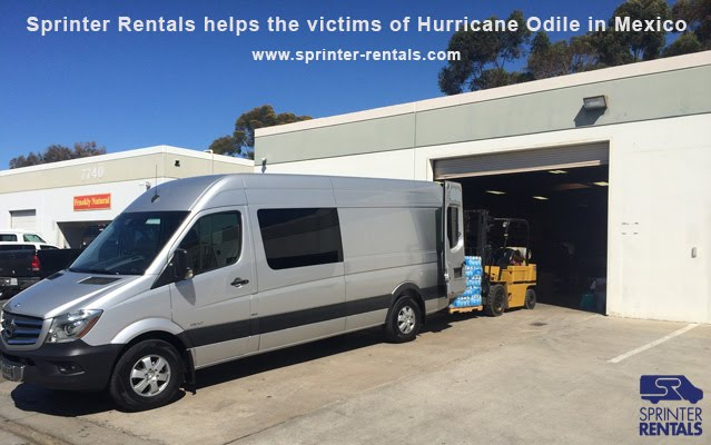 Hurricane Odile donation by Sprinter Rentals