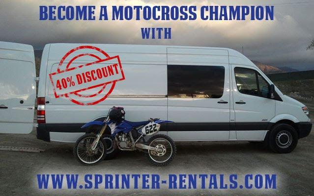 Motocross Race Sprinter Van Rentals
