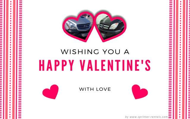Sprinter Van Valentine's card