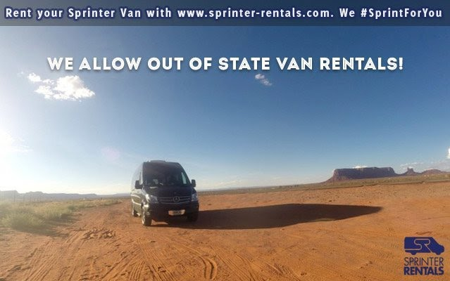 out of state van rentals