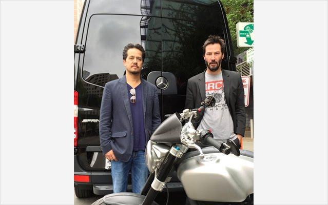 Keanu Reeves Arch Motorcycle Sprinter Rentals