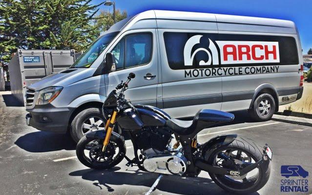Sprinter Rentals Van & Arch Motorcycle in Monterey