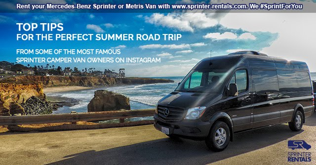 Tips for a perfect summer road trip with a Sprinter Van