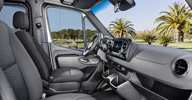 2018 Sprinter van third generation interior cockpit