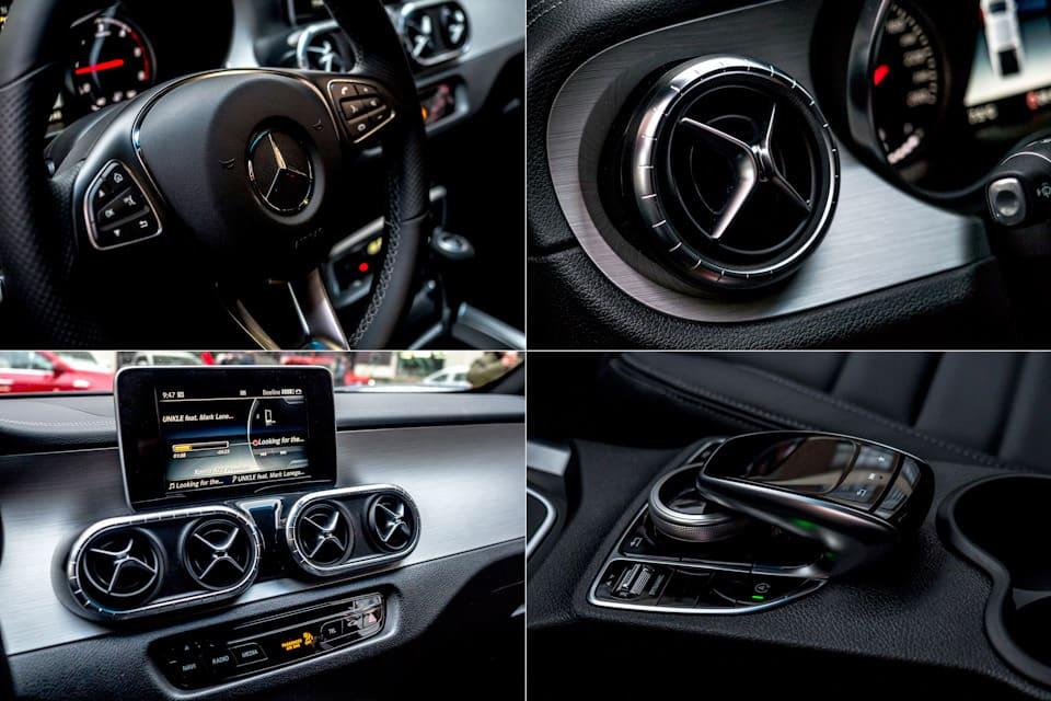 Mercedes-Benz X Class 350d interior
