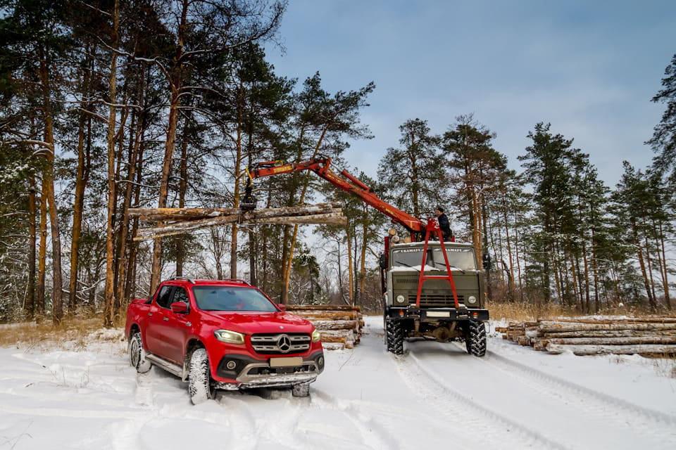 Mercedes Pickup Wood Truck